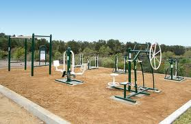 Outdoor Fitness Zones In City Parks Exercise Equipment