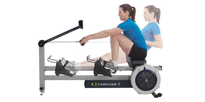 rowing machine knee