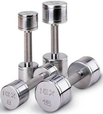 Chrome Beauty Bells Dumbbells