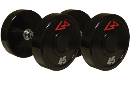 Commercial Fixed Solid Head Urethane Dumbbells - High Polish