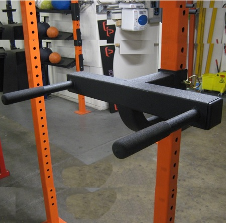 Squat Rack Dip Attachment