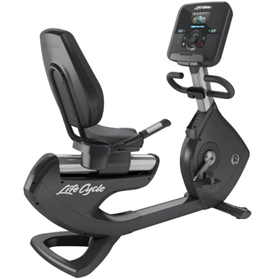 Life Fitness Platinum Club Series Recumbent Lifecycle Exercise Bike with Explore Console