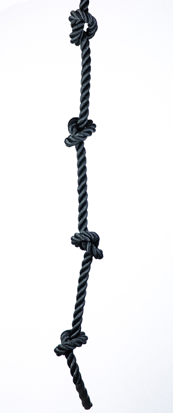 Sf Bay Area Fitness Store Knotted Climbing Rope Black