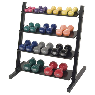 Neoprene/Vinyl Dumbbell Storage Rack