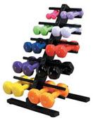 Slanted Dumbbell Tree Rack