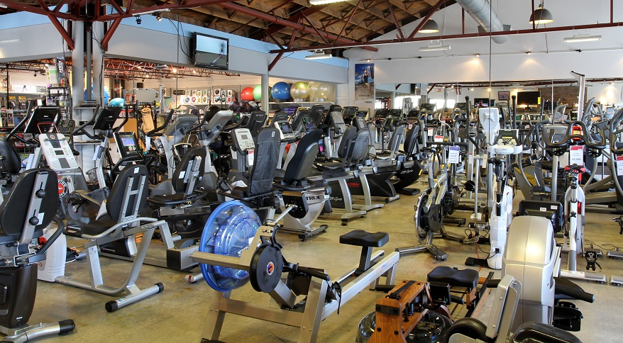 Our Showroom has a Huge Variety of Exercise Bikes - Upright, Recumbent, & Indoor Cycles