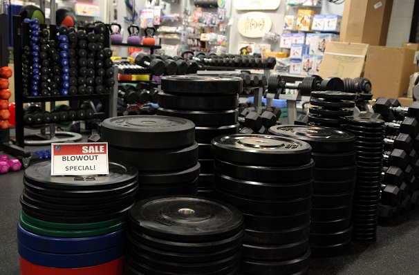 We're having a Blowout Sale on Bumper Plates, Hex Dumbbells, Battle Ropes, and Medicine Balls